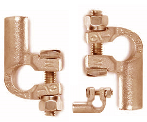 Left Angle Copper Battery Terminals